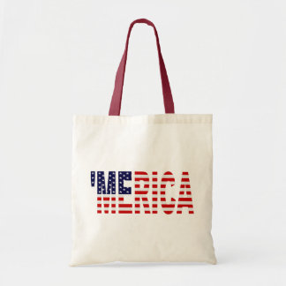'MERICA US Flag Tote Bag