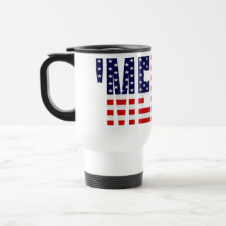 'MERICA US Flag Travel Mug