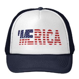 'MERICA US Flag Trucker Hat (blue)