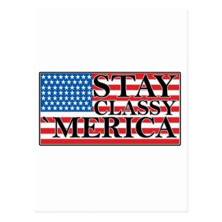 'MERICA US Flag Vintage Distressed T-shirt j G.png Postcard