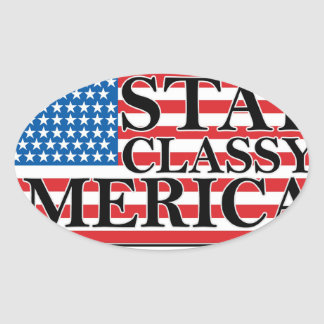 MERICA US Flag Vintage Distressed T-shirt j G png Oval Sticker