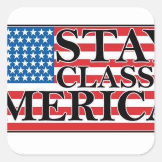 MERICA US Flag Vintage Distressed T-shirt j G png Square Sticker