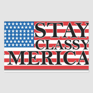 MERICA US Flag Vintage Distressed T-shirt j G png Rectangle Stickers