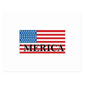 'MERICA US Flag Vintage Distressed T-shirt j.png Postcard