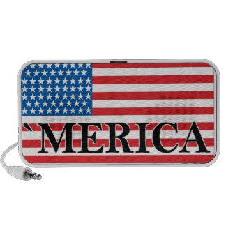 'MERICA US Flag Vintage Distressed T-shirt j.png Laptop Speakers
