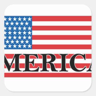 MERICA US Flag Vintage Distressed T-shirt j png Square Sticker