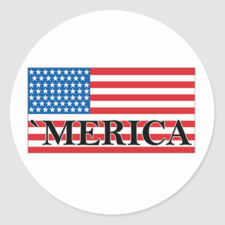 MERICA US Flag Vintage Distressed T-shirt j png Sticker