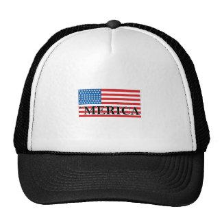 'MERICA US Flag Vintage Distressed T-shirt j.png Trucker Hat