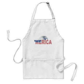 'MERICA USA Flag American Bald Eagle Apron