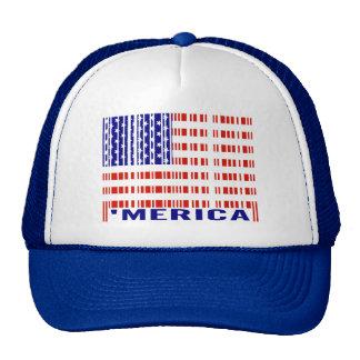 'Merica USA Flag Barcode Trucker Hat