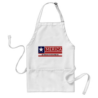 MERICA - USA Flag Shape Customizeable Text Adult Apron