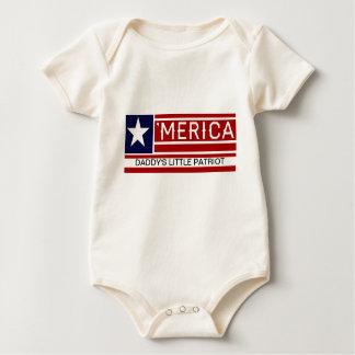 MERICA - USA Flag Shape Customizeable Text Baby Bodysuit