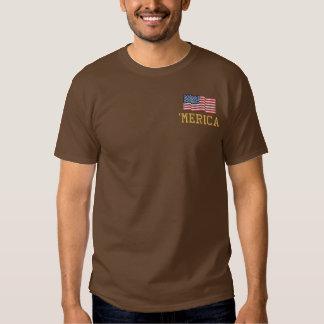 'MERICA USA Stars 'n Stripes FLAG Embroidery