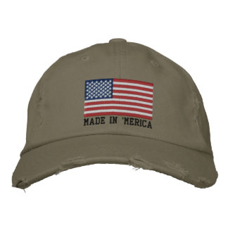 'MERICA USA Stars 'n Stripes FLAG Embroidery Embroidered Baseball Cap