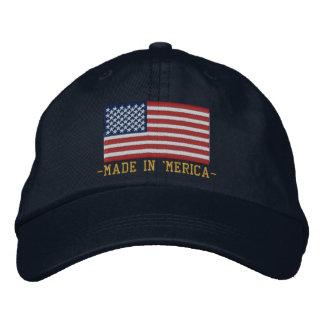 'MERICA USA Stars 'n Stripes FLAG Embroidery Embroidered Baseball Cap