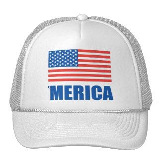 Merica white mesh hat