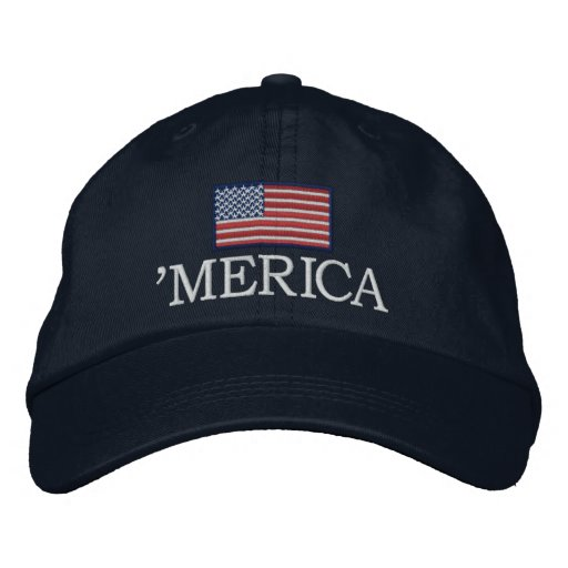 Merica - with USA flag Embroidered Baseball Cap