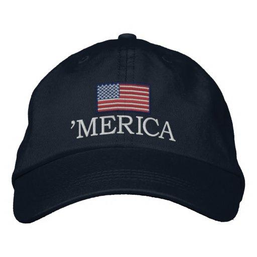 Merica - with USA flag Embroidered Baseball Cap