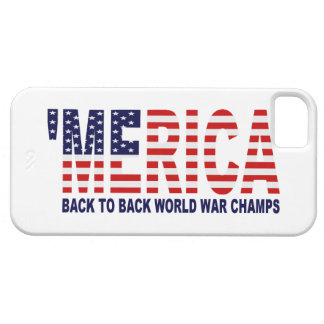 'MERICA World War Champs US Flag iPhone 5 Case