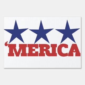 Merica Lawn Sign