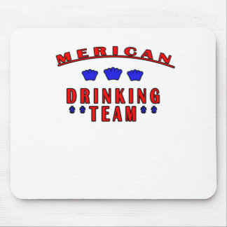 Merican Drinking Team T-Shirts png Mousepads