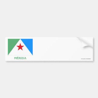 Mérida Flag with Name Bumper Sticker