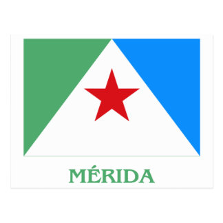 Mérida Flag with Name Postcard