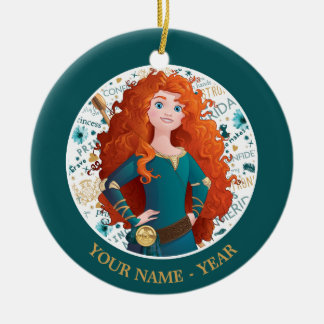 Merida | Hands On Hips Add Your Name Ceramic Ornament