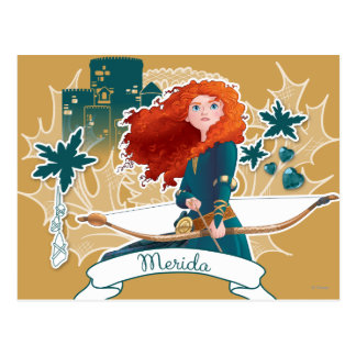 Mérida - princesa valiente postal