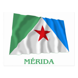 Mérida Waving Flag with Name Postcard