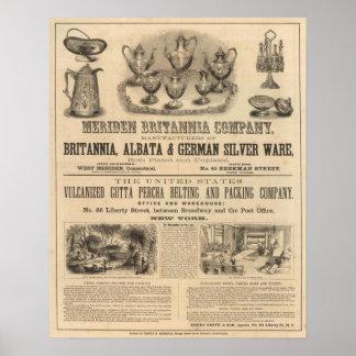 Meriden Britannia Company Poster