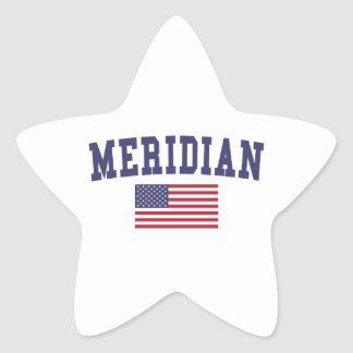 Meridian ID US Flag Star Sticker