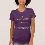Meridian Keep Calm Tee White Font T Shirts