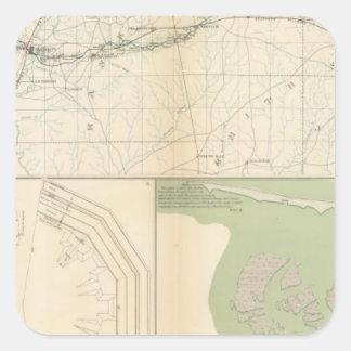 Meridiano de Vicksburg, Srta. Pegatina Cuadrada