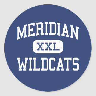Meridiano - gatos monteses - alto - Mississippi me Etiquetas Redondas