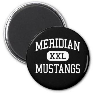 Meridiano - mustangos - alto - Sanford Michigan Imanes Para Frigoríficos