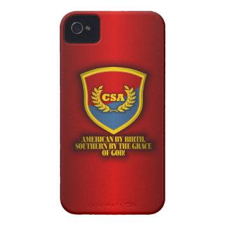 Meridional por la gracia de dios (rojo y azul) carcasa para iPhone 4 de Case-Mate