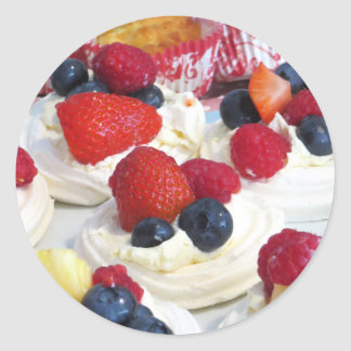 Meringues Party Food Classic Round Sticker