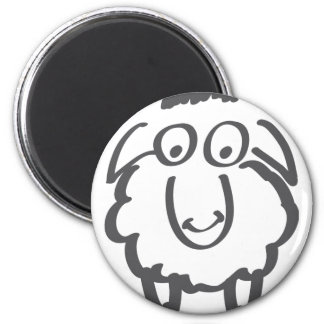 merino sheep 2 inch round magnet