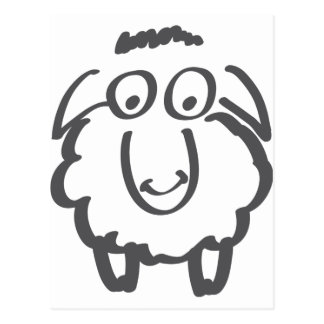 merino sheep postcard