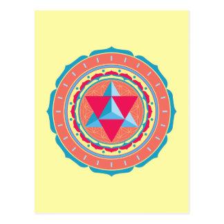 Merkaba on Flower of Life Postcard