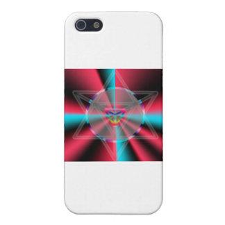 Merkaba radial iPhone 5 carcasas