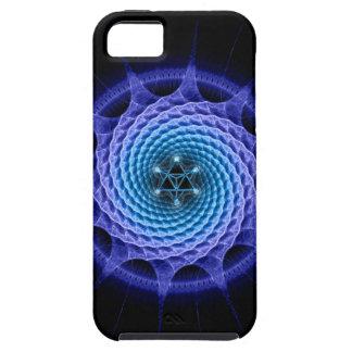 Merkaba Spiral Mandala Blue ( Fractal Geometry ) iPhone 5 Cover