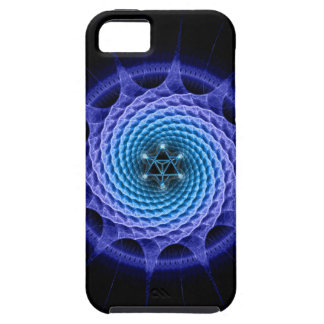 Merkaba Spiral Mandala Blue ( Fractal Geometry ) iPhone SE/5/5s Case
