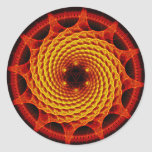Merkaba Spiral Mandala Red Fractal Sticker