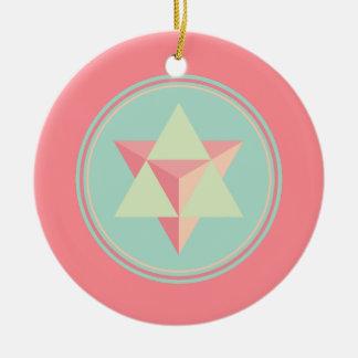 Merkaba Star Tetrahedron Ceramic Ornament