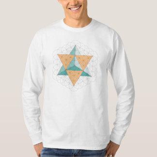 Merkaba Star Tetrahedron on Flower of Life T-Shirt