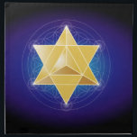 "Merkaba with Flower of Life Cloth Napkin<br><div class=""desc"">The MerKaba is a sacred geometric form for the divine light vehicle that enables multidimensional travel. It is based on the Star Tetrahedron. It is shown against the Flower of Life,  the pattern for all life in the multiverse.</div>"