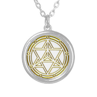 Merkabah Merkaba מרכבה Round Pendant Necklace