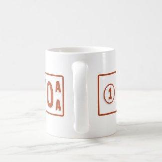 Merkato Taxi plate Coffee Mug